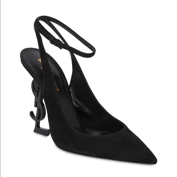 7f9f8952588 YSL Opyum Slingback Pumps in Suede with Black Heel. NWT. Saint Laurent.  M 5cad620126219f5c06c7d8a5. M 5cad6202adb58d250a449225.  M 5cad62042e7c2f3fc5488675